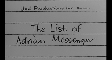 The List of Adrian Messenger (1963) Burt Lancaster - blu-ray movie title