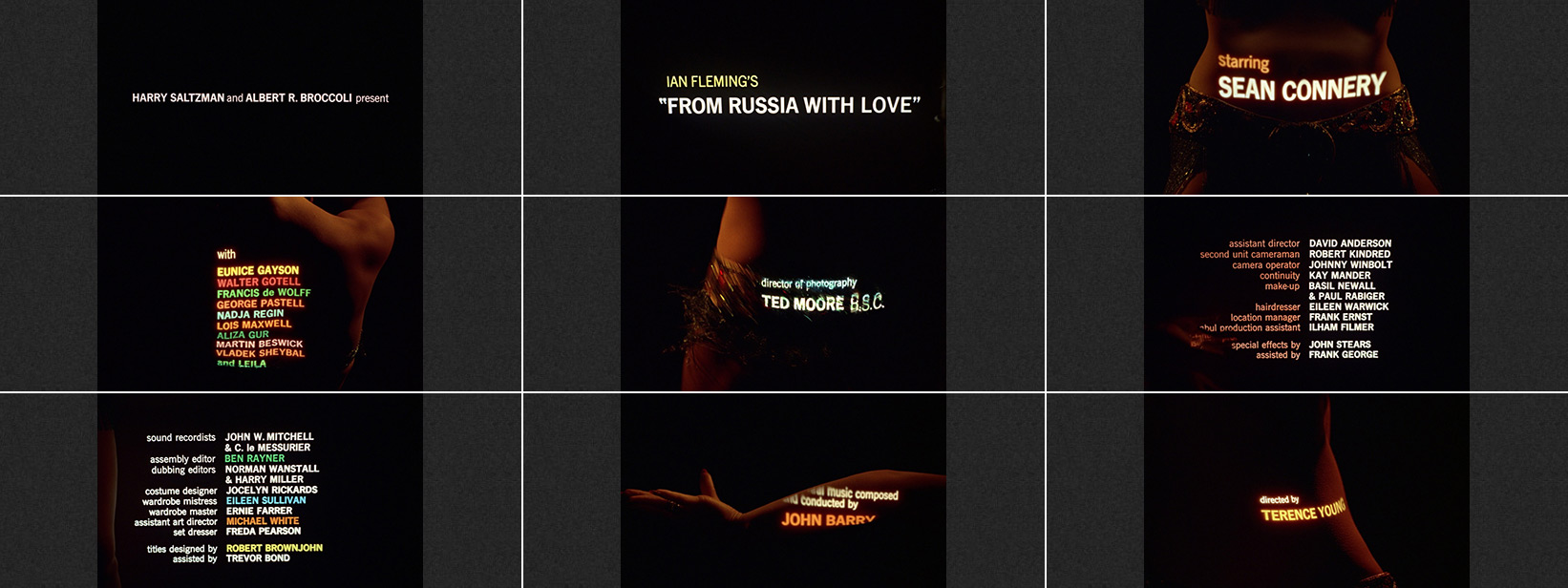From Russia with Love (1963) Robert Brownjohn - title sequence