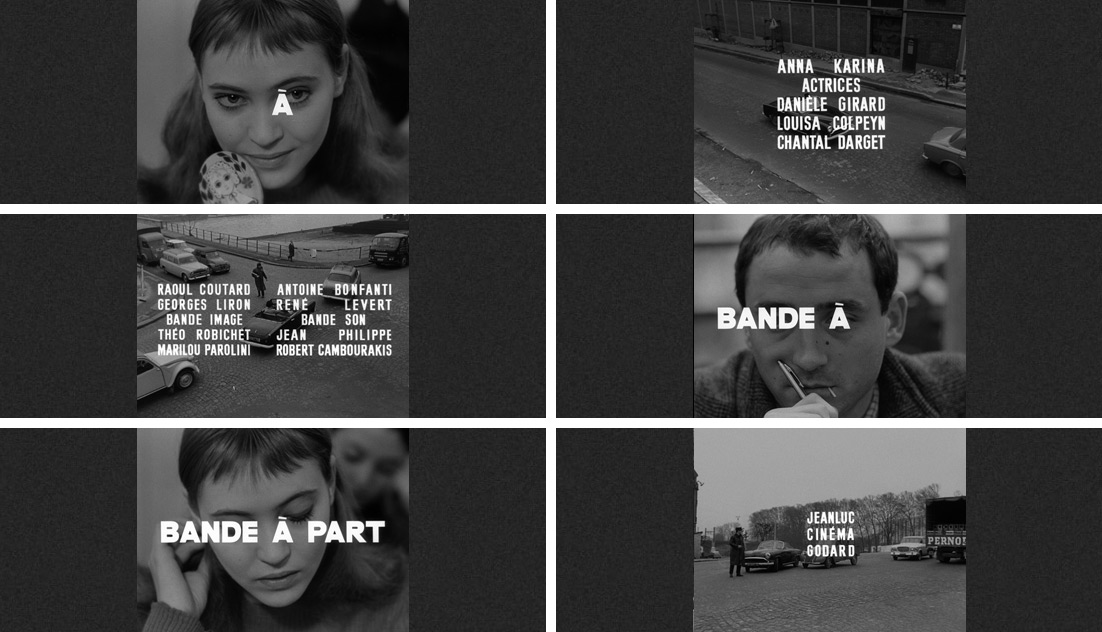 The typography of Jean-Luc Godard: Bande à part / Band of Outsiders (1964)