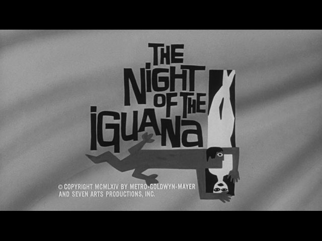 The Night of the Iguana movie end title screen shot