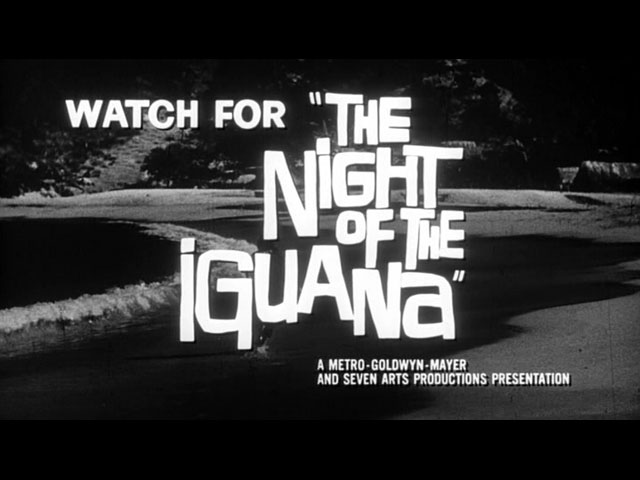 The Night of the Iguana movie trailer title