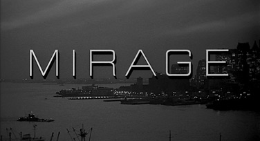 Mirage (1965) Gregory Peck - Blu-ray movie title
