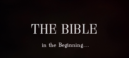 The Bible: In the Beginning... (1966) 20th Century Fox - Blu-ray movie title
