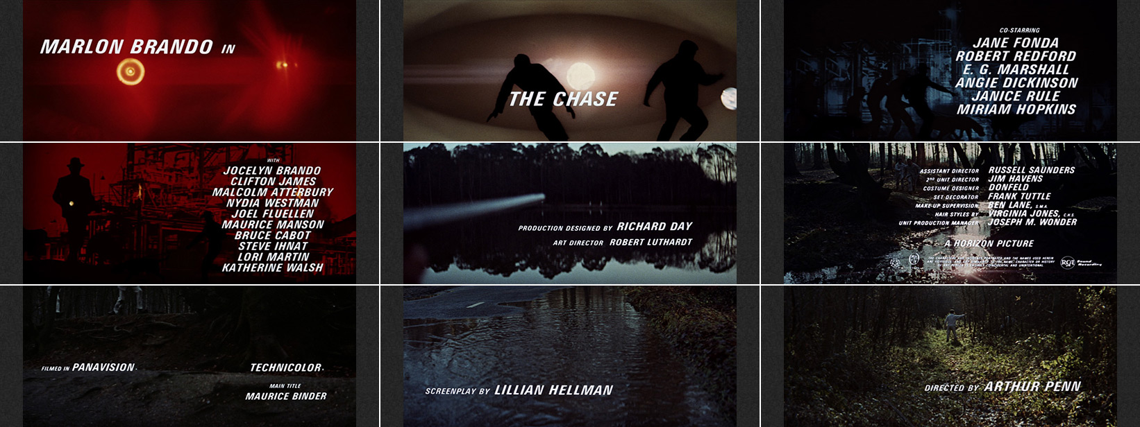 The Chase (1966) Maurice Binder - title sequence
