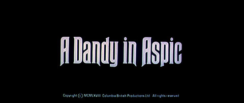 A Dandy in Aspic (1968) Anthony Mann - blu-ray movie title