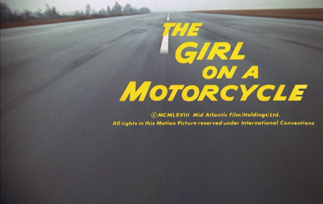 The Girl on a Motorcycle (1968) Alain Delon - blu-ray movie title