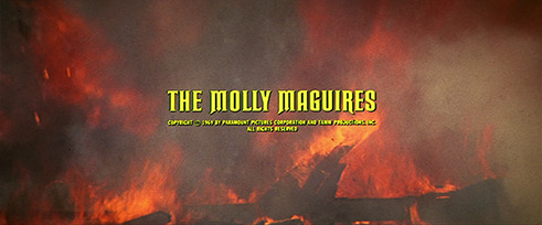 Wayne Fitzgerald: The Molly Maguires (1970) title sequence