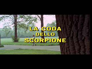 The case of the scorpion's tail (1971) movie title