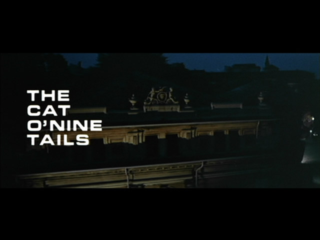 The Cat o' Nine Tails 1971 movie title