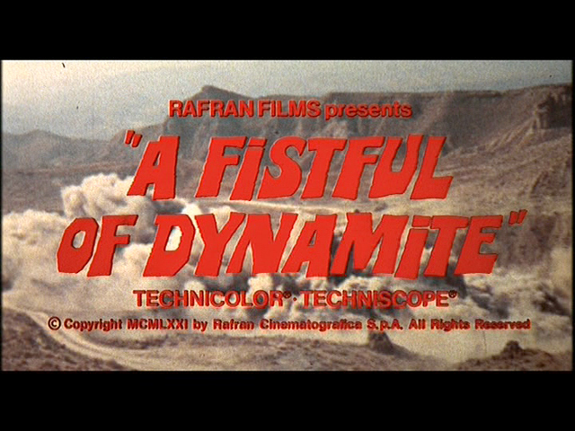 Duck, you sucker A fistful of dynamite movie trailer title