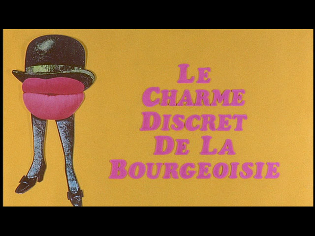 Discreet charm of the bourgeoisie movie trailer title
