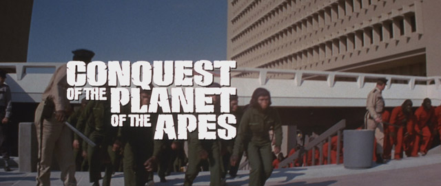 Conquest of the Planet of the Apes movie title