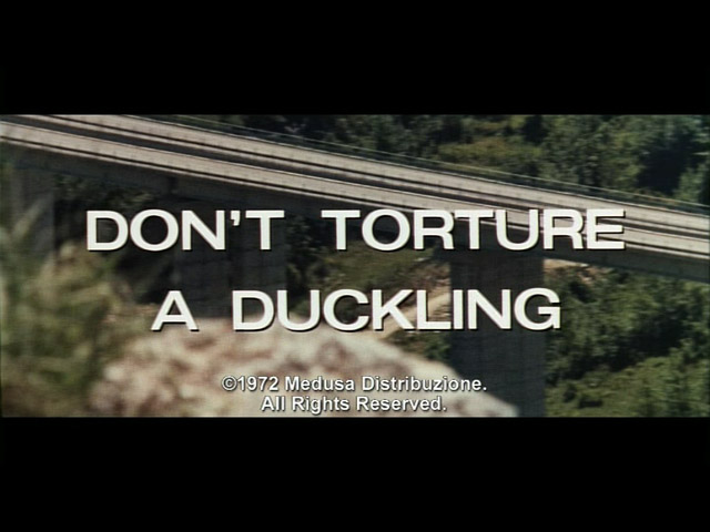 Don't torture a duckling 1972 movie title