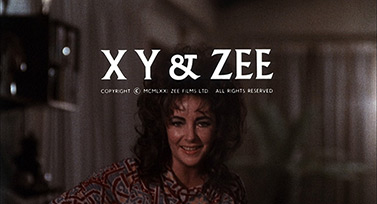 X, Y & Zee (1972) Columbia Pictures - blu-ray movie title