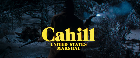 Cahill U.S. Marshal (1973) Wayne Fitzgerald - title sequence
