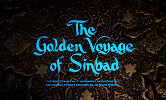 The Golden Voyage of Sinbad (1973) Columbia Pictures - blu-ray movie title