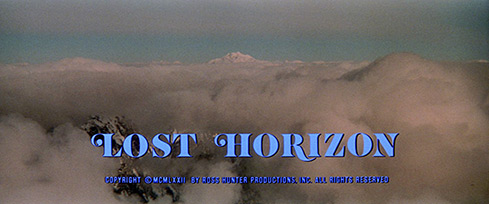 Lost Horizon (1973) Columbia Pictures - blu-ray movie title