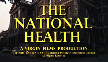 The National Health (1973) Columbia Pictures - blu-ray movie title