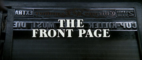 The Front Page (1974) Wayne Fitzgerald - title sequence