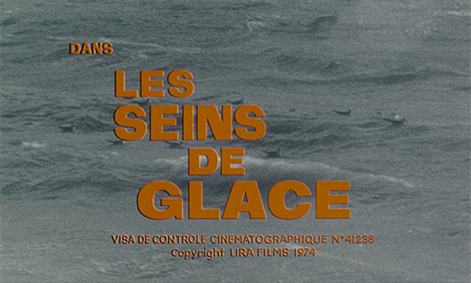 Mireille Darc: Les seins de glace / Icy Breasts (1974) title sequence