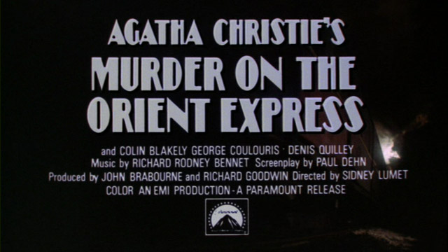 Murder on the Orient Express 1974 trailer title