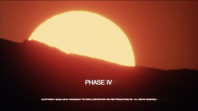 Saul Bass Phase IV 1974 title sequence