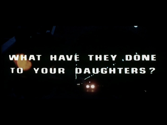 image: What have they done to your daughters? british movie trailer title screen shot
