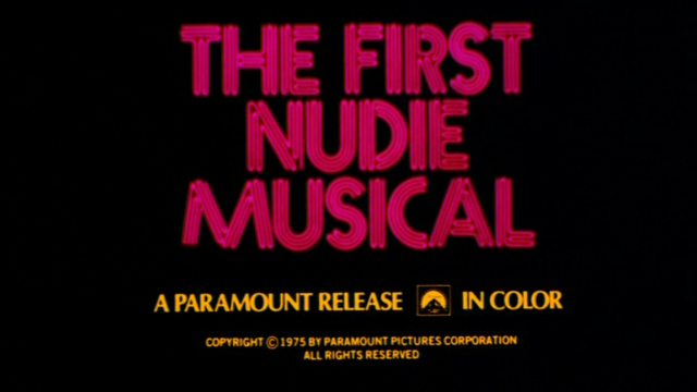 The First Nudie Musical (1976) movie title