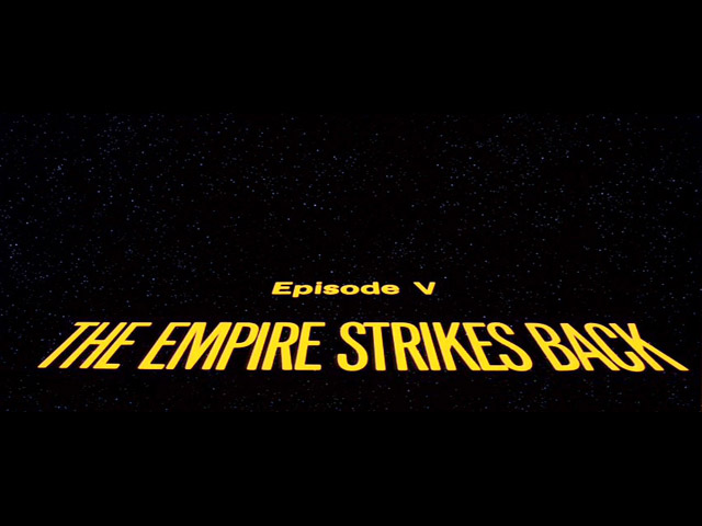 Star wars The empire strikes back movie title