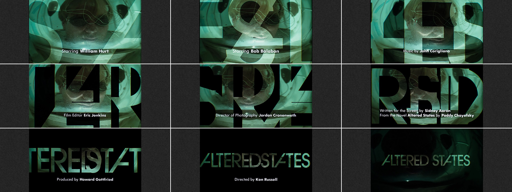 Altered States (1980) R/Greenberg Associates, Inc. - title sequence