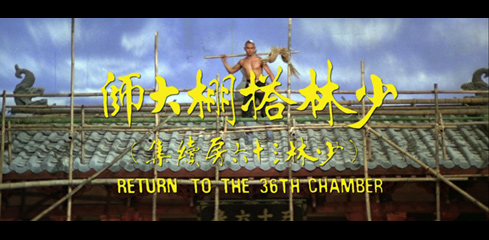 Return to the 36th Chamber (1980) Shaw Brothers movie title
