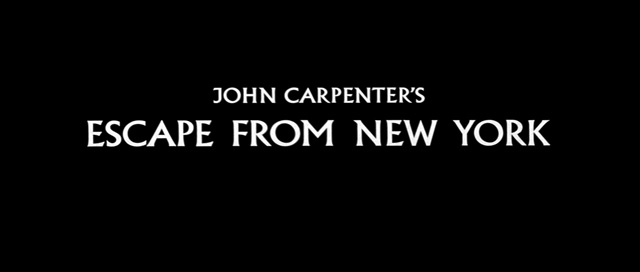 Escape from New York (1981) movie title
