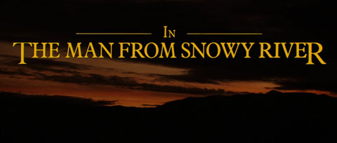The Man from Snowy River (1982) Kirk Douglas - blu-ray movie title