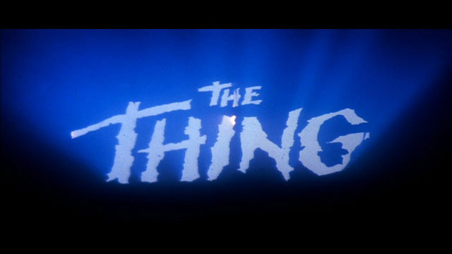 The Thing 1982 movie title