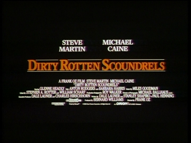 Dirty Rotten Scoundrels trailer title