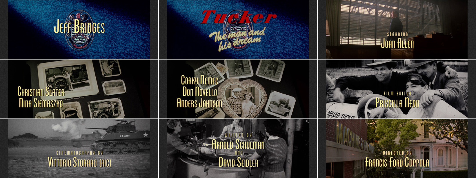 Gary Gutierrez: Tucker: The Man and His Dream (1988) title sequence