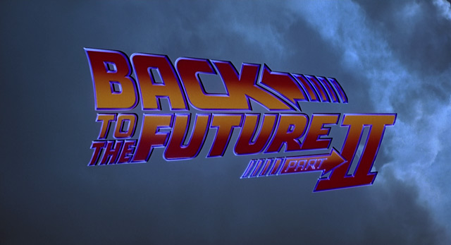 Back To The Future Part Ii 1989 Robert Zemeckis