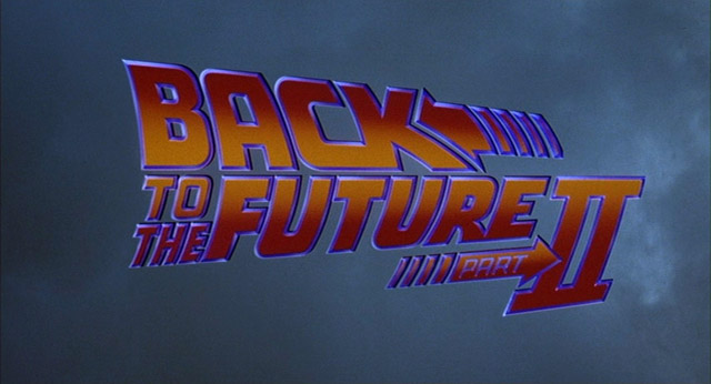 Back to the Future Part II movie title