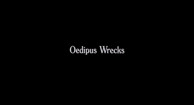 an examination of the movie oedipus wrecks by woody allen If this was anyone else's movie it would be labelled hopelessly derivative of woody allen that it's an act of self-cannibalism does nothing to alleviate this sense as wonder wheel plots its.