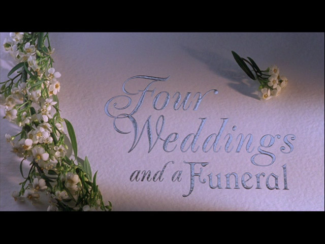 Four Weddings And A Funeral 1994 Mike Newell Hugh Grant Kristin Scott Thomas Andie Macdowell