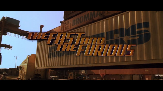 The Fast and the Furious 2001 movie title