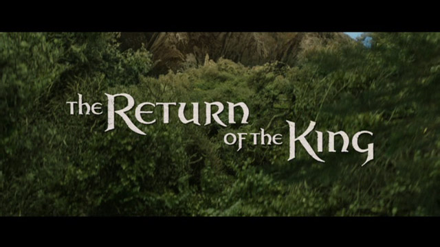 The Return of the King movie title