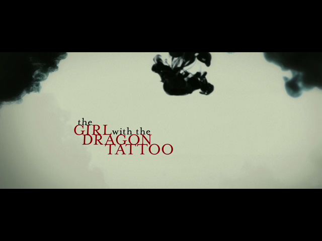 The Girl with the Dragon Tattoo movie trailer title