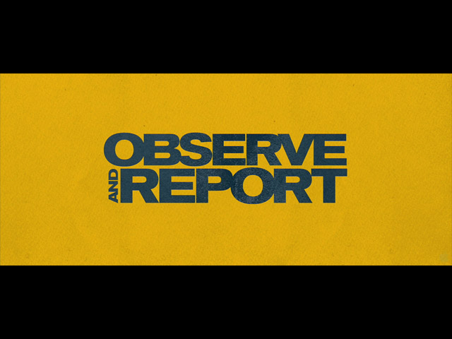 Observe and report movie trailer title