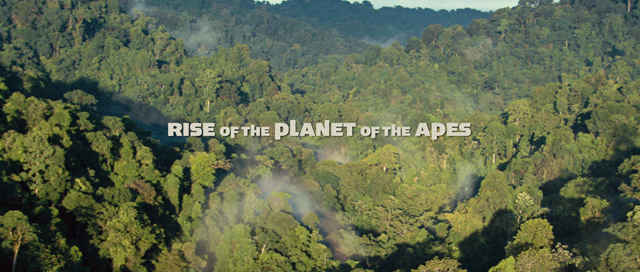 Rise of the Planet of the Apes 2011 movie title